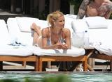 ADDS Michelle Hunziker | Bikini Candids poolside in Miami | May 2 | 20 pics + 27