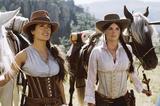 "Salma Hayek & Penelope Cruz ""Bandidas"" Stills...."